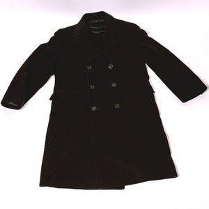 Vintage Men's Winter Black Heavy Overcoat Size 38M